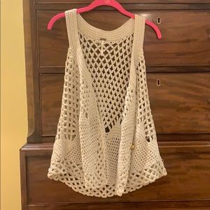 Free People Other - Free People - crochet vest w/gold button details